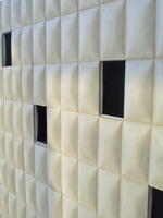 Convex Tiles 6x12 created per spec by the project architect